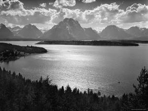 View of Jackson Lake and the Grand Teton Mountains by Hansel Mieth