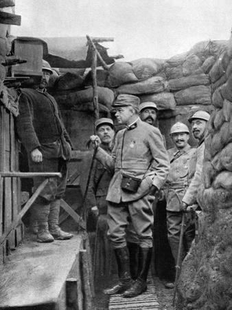 Hansi the Caricaturist in French Trenches, WW1