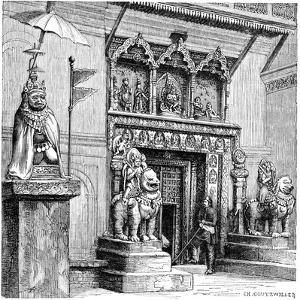 Hanuman Gate of the Royal Palace, Kathmandu, Nepal, 1895 by C Goutzwiller