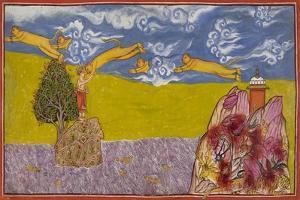 Hanuman Leaps Across the Ocean