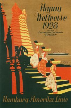HAPAG World Cruise, Travel Poster