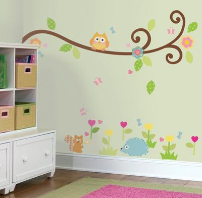 Happi Scroll Branch Peel & Stick Wall Decals