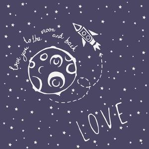 Card Love You to the Moon and Back by happiestsim