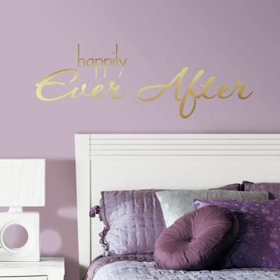 Happily Ever After Quote Peel and Stick Wall Decals