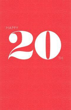 Happy 20th