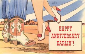 Happy Anniversary Darlin', Cowboy Boots and High Heels