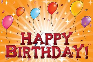 Happy Birthday (Balloons) Art Poster Print