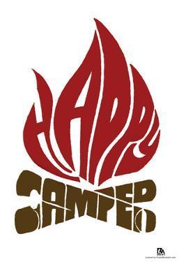 Happy Camper Text Poster