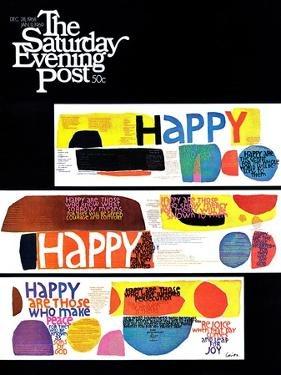 """Happy Collage,"" Saturday Evening Post Cover, December 28, 1968"
