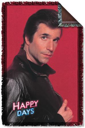 Happy Days - Red Fonz Woven Throw