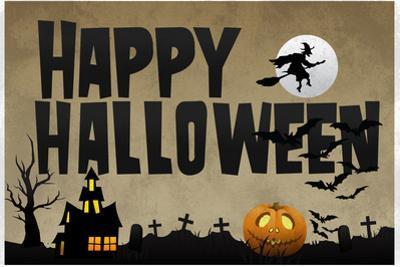 Happy Halloween Holiday Plastic Sign