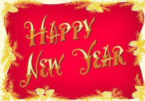 Happy New Year, Red and Gold