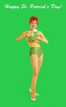 Happy St. Patrick's Day, Bikini Girl