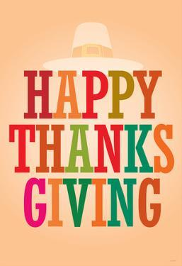Happy Thanksgiving (Colorful) Art Poster Print
