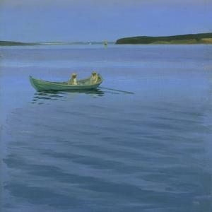 Boat Excursion on an Idyllic Lake by Harald Slott-Möller