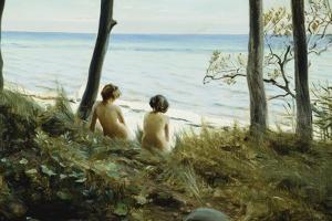 On the Beach, 1907 by Harald Slott-Moller
