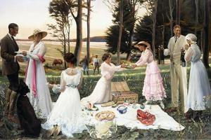 The Afternoon Picnic, 1919 by Harald Slott-Moller