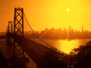 BAY BRIDGE IN SAN Francisco, CALIFORNIA by Harald Sund