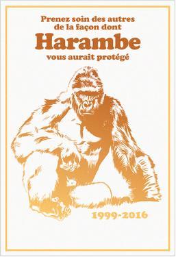 Harambe, Le Gorille Héroïque (Blanc)