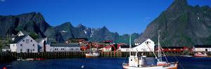 Harbor and Boats Hamnoey Lofoten Norway