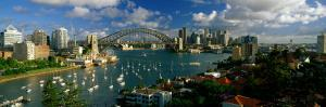 Harbor and City and Bridge, Sydney, Australia