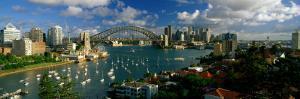 Harbor and City and Bridge, Sydney, Australia