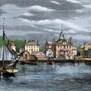 Harbor and Custom-House in Salem, Massachusetts, Circa 1870