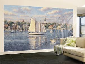 Harbor View Huge Mural Art Print Poster