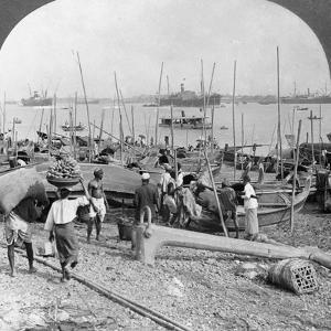 Harbour of Rangoon on the Irawaddy River, Burma, 1908