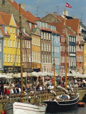 Busy Restaurant Area, Nyhavn, Copenhagen, Denmark, Scandinavia, Europe by Harding Robert