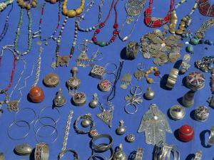 Jewellery Laid Out for Sale, Boumalne Du Dades Market, Morocco, North Africa, Africa by Harding Robert