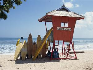 Surfboards Stacked Waiting for Hire at Kuta Beach on the Island of Bali, Indonesia, Southeast Asia by Harding Robert
