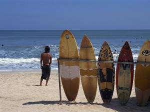 Surfboards Waiting for Hire at Kuta Beach on the Island of Bali, Indonesia, Southeast Asia by Harding Robert