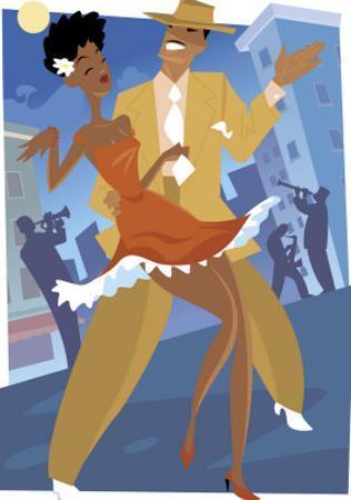 Harlem Renaissance Dancing Couple