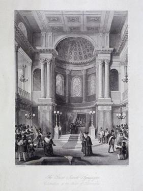 Great Synagogue, Dukes Place, London, C1850 by Harlen Melville