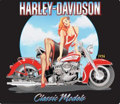 Harley-Davidson® - Classic Model's Babe Embossed Tin Sign