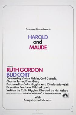 HAROLD AND MAUDE, US poster, 1971