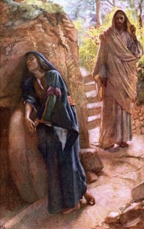 Mary Magdalene at the Sepulchre by Harold Copping