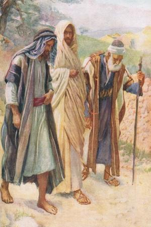 The Walk to Emmaus by Harold Copping