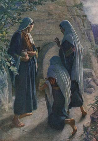 The Women at the Sepulchre, Illustration from 'Women of the Bible', Published by the Religious… by Harold Copping