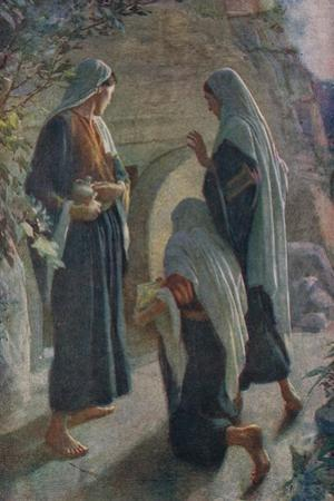 Woman at the Sepulchre by Harold Copping