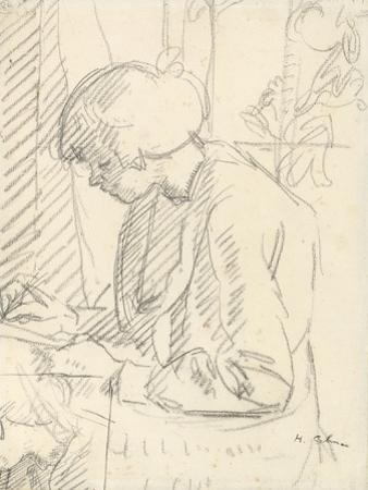 A Girl Writing