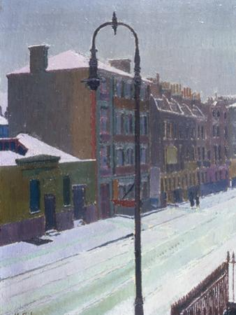 A London Street in Snow, 1917