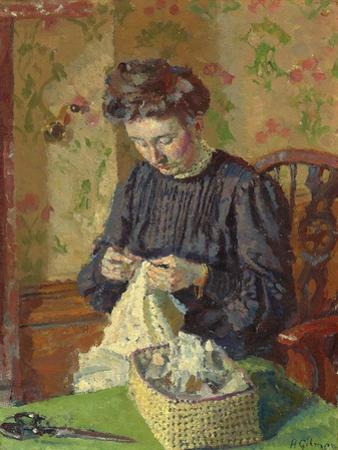 Woman Sewing, C. 1908