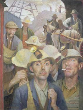 St. Just Tin Miner, 1935 by Harold Harvey