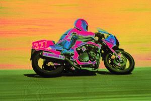 Person Riding a Motorcycle by Harold Wilion