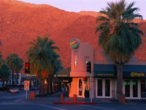 Sunset on Downtown Street, Palm Springs, CA by Harold Wilion