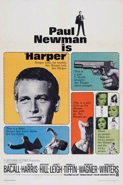Harper, Paul Newman, Lauren Bacall, Janet Leigh, 1966