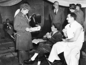 Harpo, Chico and Groucho Marx on the Set of Mgm's Movie, a Day at the Races