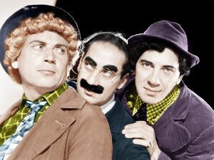 Harpo Marx, Groucho Marx, Chico Marx, MGM portrait, ca. 1940